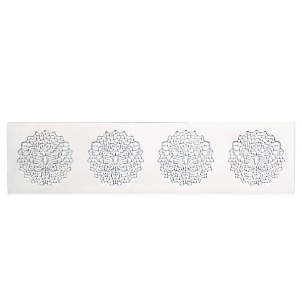 Dekormatte Frühling ca. 39,5 x 10 cm Weiß Silikon