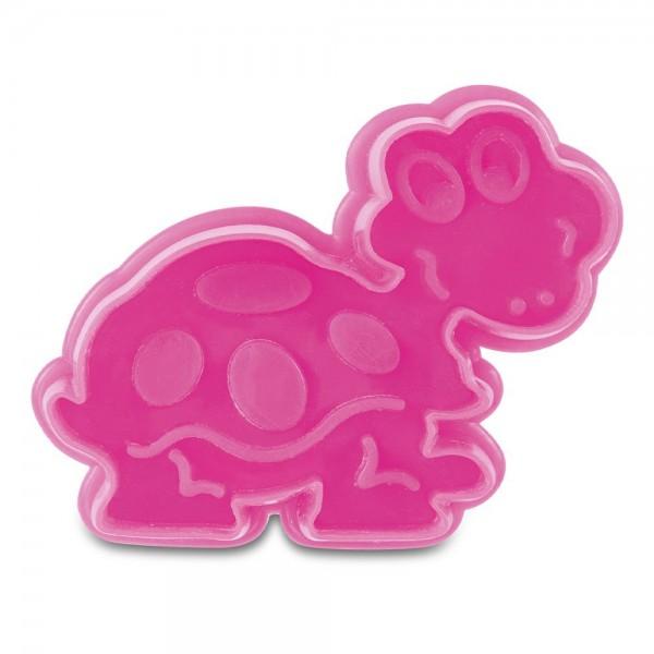 Prägeausstecher Schildkröte ca. 6 cm Pink