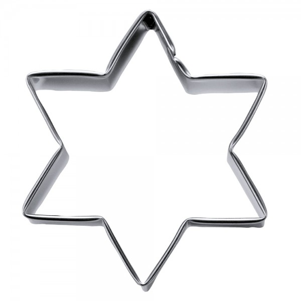 Ausstecher Stern ca. 3 cm / H 2,5 cm 6-zackig