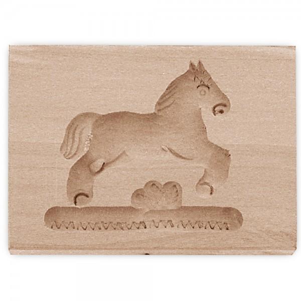 Holz-Prägeform Pferd ca. 8 x 5,5 cm springend