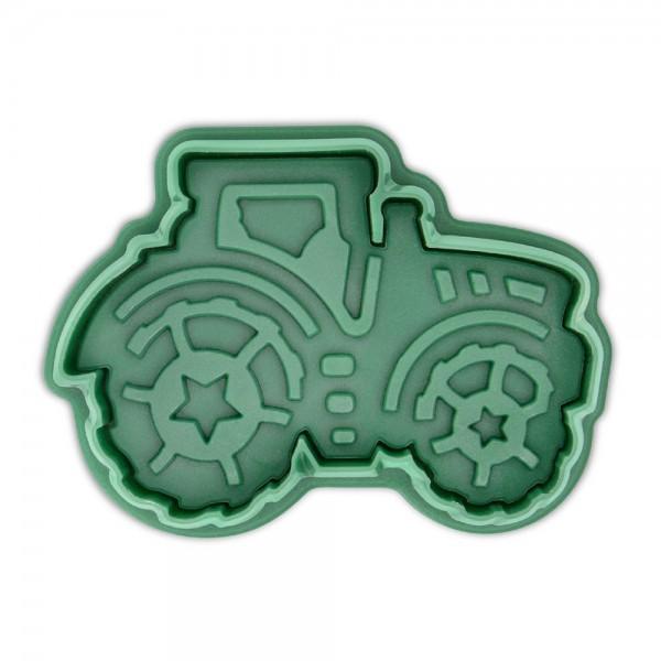 Prägeausstecher Traktor 6,5 cm Dunkelgrün