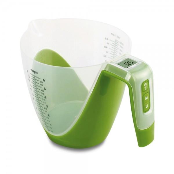 Digitale Waage ca. 1500 ml Grün mit Messbecher