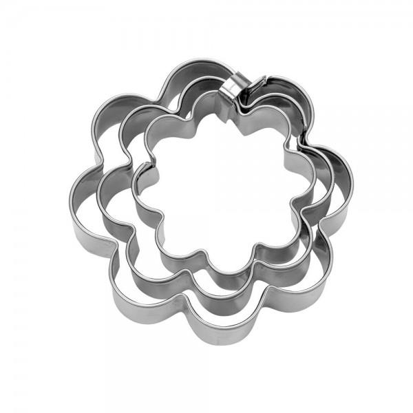 Ausstecher Blume ca. 4 / 5 / 6 cm Set, 3-teilig