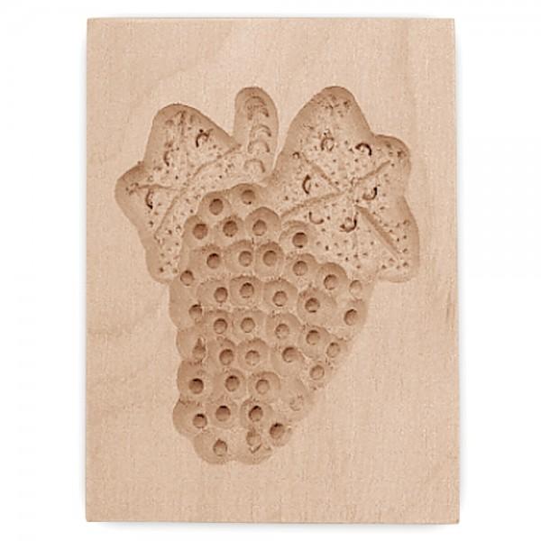 Holz-Prägeform Traube ca. 5,5 x 8 cm