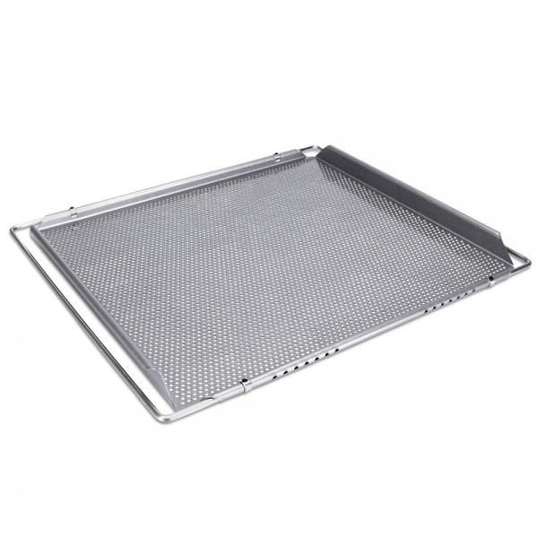 We-Love-Baking Herdbackblech ca. 40 x 35 cm Silber mit Spezial-Lo