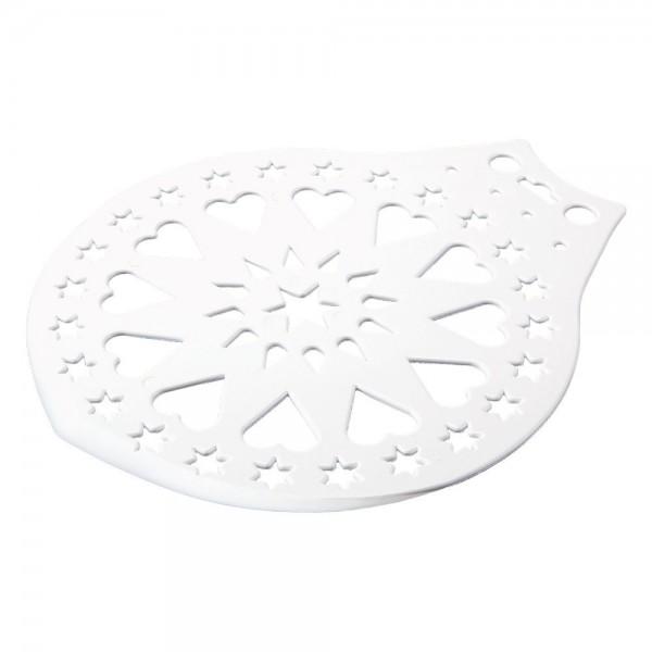 Kuchenheber & Verzierschablone ca. ø 28 cm Weiß