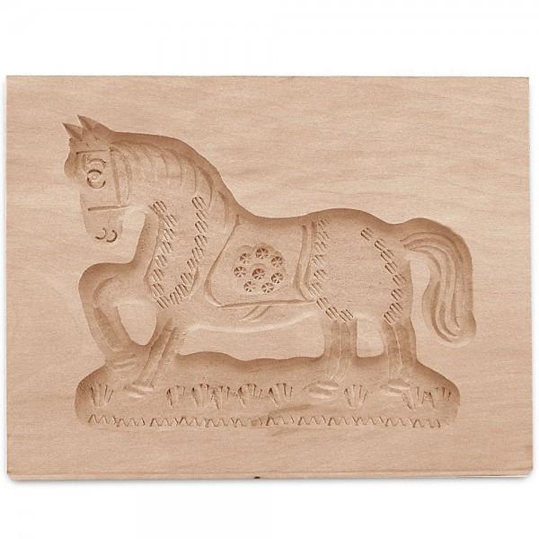 Holz-Prägeform Pferd ca. 16 x 13 cm