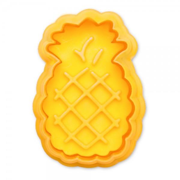 Prägeausstecher Ananas ca. 5 cm Gelb