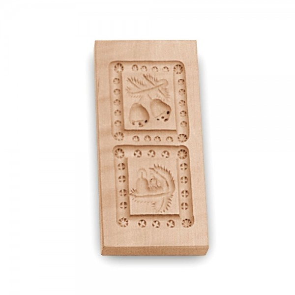 Holz-Prägeform 2 Motive ca. 5,5 x 12 cm