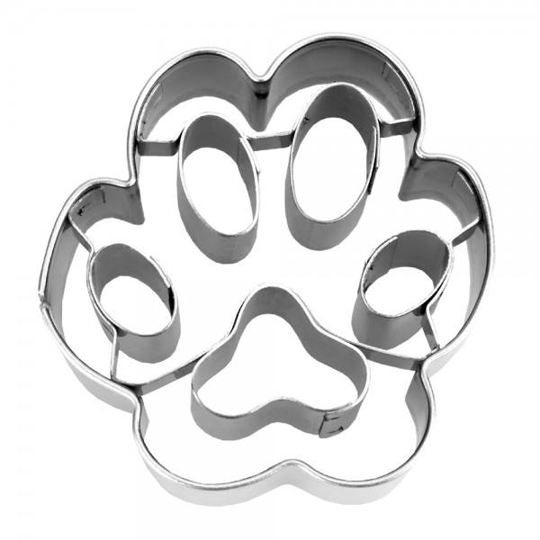 Prägeausstecher Hundepfote ca. 4,5 cm klein