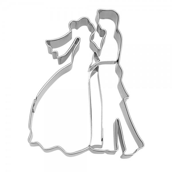 Prägeausstecher Brautpaar ca. 8 cm