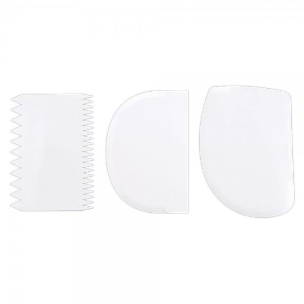 Teigschaber ca. 11–12,5 cm Weiß Set, 3-teilig