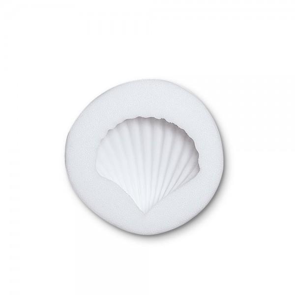 Prägeform  Muschel ca. 4 cm Weiß Reliefform